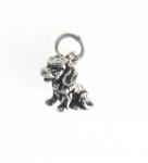 CM54 Silver dog charm