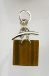 GP17 Silver tigers eye pendant WAS: £36.00