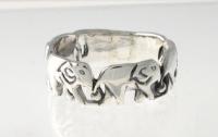 R1 Silver Elephant Ring