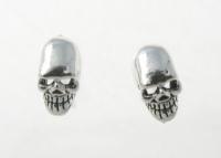 S107 Silver Skull Studs
