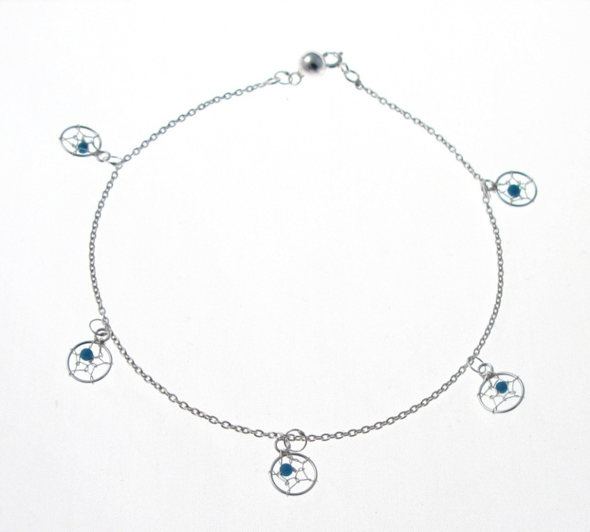 dreamcatcher silver jpg anklets dream anklet gone potty catcher
