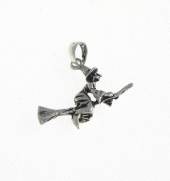 P76 silver witch pendant silver pendants gothic fantasy gone potty p76 silver witch pendant aloadofball