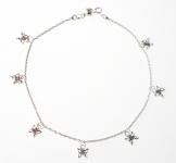 A17 Sterling silver butterfly anklet