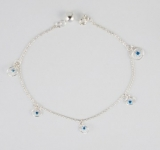 A3 Silver dreamcatcher anklet