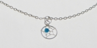 A4 Silver Dreamcatcher Anklet