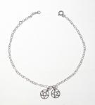 A47 Sterling silver pentagram anklet