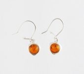 AE10 Silver Baltic Amber Earrings