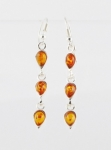AE4 Silver Baltic Amber Earrings