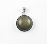 AG7 Silver Obsidian pendant