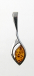 AP9 Silver Baltic Amber Pendant