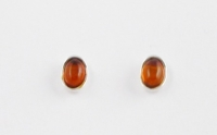 AS3 Silver Amber Studs