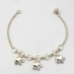 B25 elephant bracelet with bell