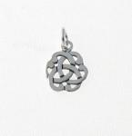 CM50 Silver Celtic Flower Charm