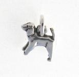 CM53 Silver dog charm