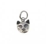 CM60 Silver cat head charm