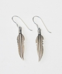 E105 Silver Feather Earrings