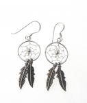 E107 Dreamcatcher earrings