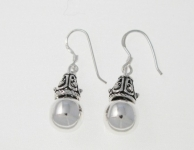 E109 Silver balinese drops