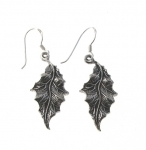 E120 Silver leaf earrings
