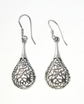 E124 flower drop earrings