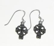 E160 Small celtic cross earrings