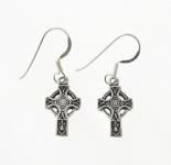 E164 Silver celtic cross