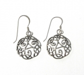 E171 Silver celtic earrings