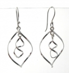 E172 Silver spiral earrings