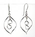 E172 Silver spiral earrings