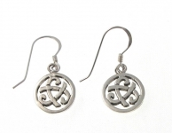 E173 Silver celtic earrings