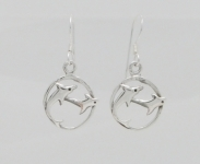 E18 Dolphins swimming earrings
