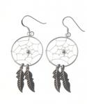 E185 Large dreamcatcher earrings