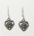 E190 3D Filigree Heart Earrings