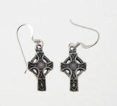 E23 Celtic cross earrings