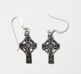 E23 Celtic cross earrings