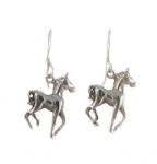 E30 Galloping horses earrings