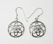 E62 silver seed of life earrings