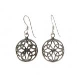 E74 Celtic circle earrings