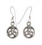 E81 Celtic triangle earrings