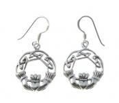 E84 Claddagh celtic earrings