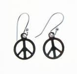 E88a Peace sign earrings