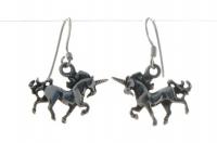 E9 Silver unicorn earrings
