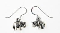 E95 Silver Elephant Earrings