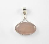 GP1 Silver rose quartz pendant