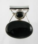 GP13 Silver black onyx pendant
