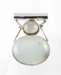 GP13 Silver blue chalcedony pendant