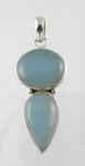 GP14 Silver blue chalcedony pendant