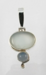 GP16 Silver blue chalcedony pendant