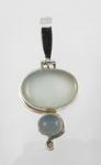 GP16 Silver blue chalcedony pendant