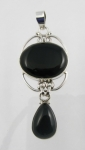GP18 Silver black onyx pendant